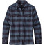 """Patagonia W's Fjord LS Flannel Shirt Boxwood Plaid: Navy Blue"""